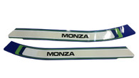 NOS Puch Monza Moped Tank Decal / Sticker Pair - Blue, Green, White