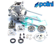 Peugeot Polini 4 Petal Reed Valve Engine Case Kit
