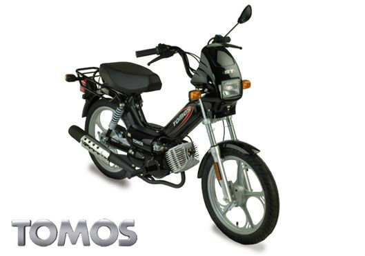 2013 Tomos Black ST Moped, Kickstart