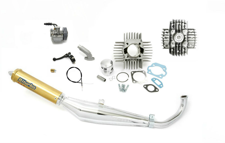 tomos a55 complete performance package with carburetor exhaust 70cc cylinder kit moped division