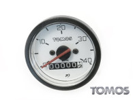 OEM  Tomos 40mph White Face Speedometer 232803