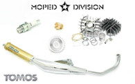 Tomos  A55  Speed Package  Airsal 70cc Cylinder Kit & Biturbo Exhaust for Streetmate, Revival & Arrow