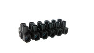 6 Block Electric Wire Connector Terminal - Black