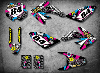 Honda CRF 70/80/100 Full Graphics Kit RUSH Style
