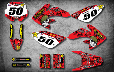 Honda CRF 70/80/100 Full Graphics Kit METAL Style