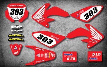 Honda CRF 70/80/100 Full Graphics Kit PRESTO Style