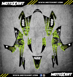 QUAD ATV Full custom graphics kit MONSTER Style Sticker Kit