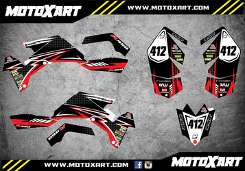 QUAD ATV Full custom graphics kit RAGE Style Sticker Kit
