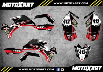 QUAD ATV Full custom graphics kit RAGE Style Sticker Kit