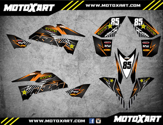 QUAD ATV Full custom graphics kit KTROCK Style Sticker Kit
