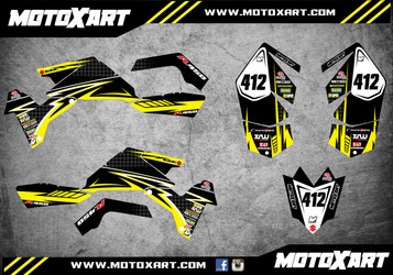 QUAD ATV Full custom graphics kit RIVAL Style Sticker Kit