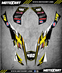 QUAD ATV Full custom graphics kit THRUST Style Sticker Kit