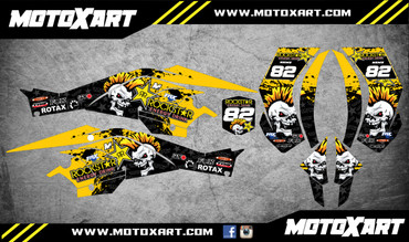 QUAD ATV Full custom graphics kit PUNK Style Sticker Kit