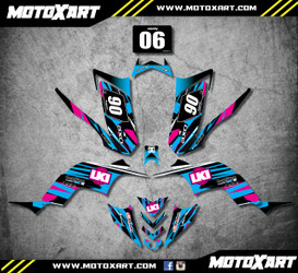 Yamaha QUAD ATV Full custom graphics kit DUKE Style Sticker Kit