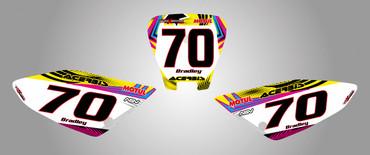 Honda CRF 70/80/100 Number plates Neon style