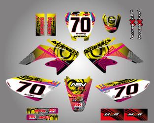 Honda CRF 70/80/100 Full Graphics Kit Neon Style