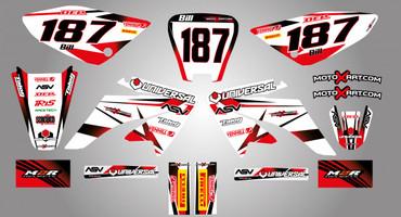 Honda CRF 70/80/100 Full Graphics Kit Storm Style