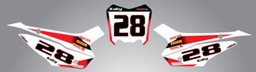 Honda CRF 110 Number plates Storm Style