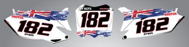 Honda 125cc + Aussie Pride style number plates