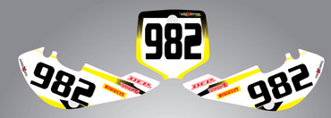 RM 65 Storm Style Number Plates