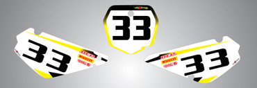 RM 85 Storm style number plates