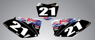 Suzuki 125cc + Aussie Pride style number plates