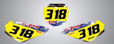 RM 65 Aussie Pride Style Number Plates