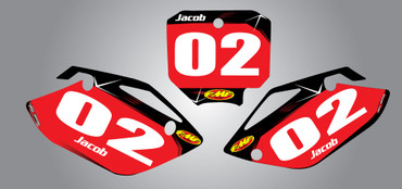 CRF 150 Barbed style number plates
