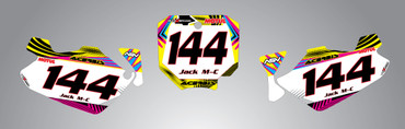 Honda CR 80/85 Number plates Neon style