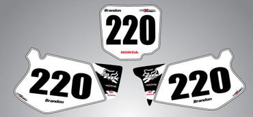Honda 125cc + Safari style number plates