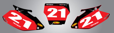 Honda 125cc + Barbed style number plates