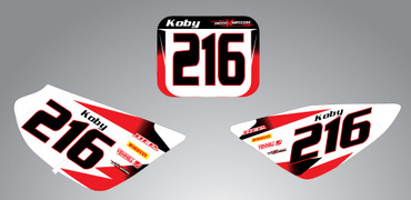 CRF 50 Storm style number plates