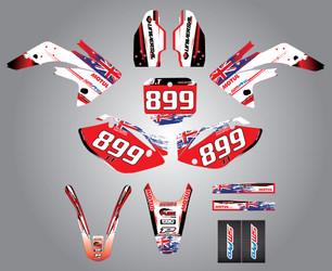 CRF 150 Aussie Pride style full kit