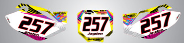 CRF 150 Neon style number plates