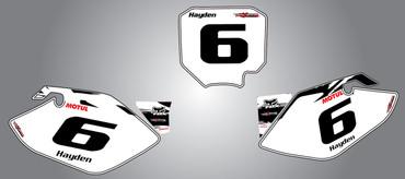 CRF 150 Safari style number plates