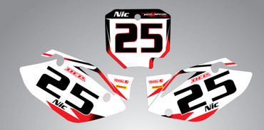 CRF 150 Storm style number plates