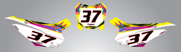 Honda CRF 110 Number plates Neon style