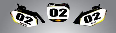 Suzuki 125cc + Barbed style number plates