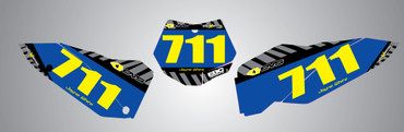 Suzuki 50cc Factory style number plates