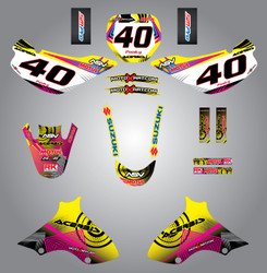 JR 80 / DRZ 70  Neon Style Full Kit