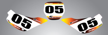 JR 80 / DRZ 70 Sunrise  Style Number Plates