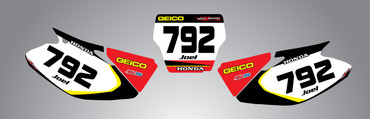 Honda 125cc + Sonic style number plates