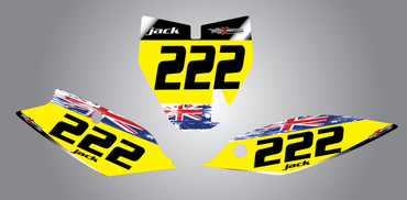Husky TC 85cc + Aussie Pride Style Number Plates