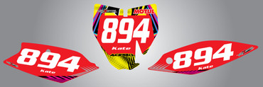 Husky TC 85cc + Neon Style Number Plates