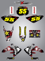 CRF 70/80/100 Full Graphics Kit Graffiti Style