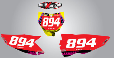 Husky 125cc + Neon Style Number Plates