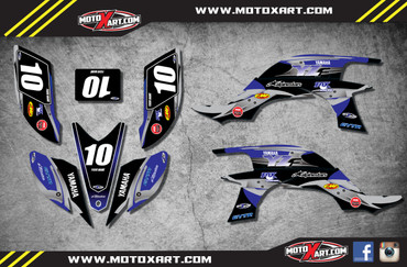 QUAD ATV Full custom graphics kit BLUE STEEL Style Sticker Kit