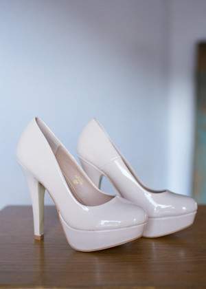 Frosted and Primped Heels Nude
