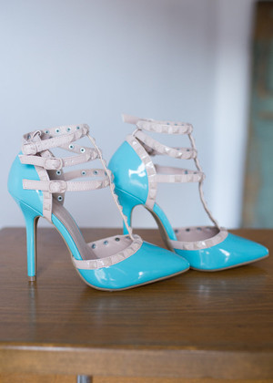 Triple Decker Edge Heels Aqua CLEARANCE