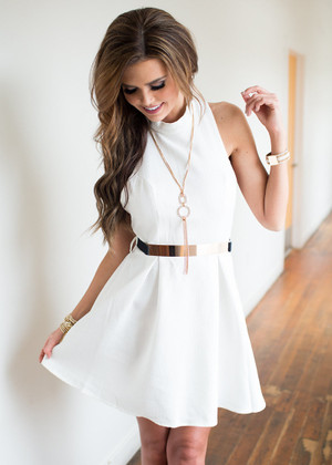 Key to the City Dress Ivory